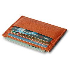 ขาย Moonar แฟชั่นทั้งชายและหญิงบัตรธุรกิจบัตรเครดิตหนังหนังเทียมเนื้อลิ้นจี่ที่เก็บบัตรรูปแบบเคส