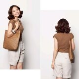 ขาย Moonar Fashion Vintage Summer Handmade Cooler Braid Straw Women Beach Shoulder Bag Tote Bag Coffee Intl ราคาถูกที่สุด
