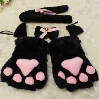 ลูกแมวแมวคอสเพลย์บทบาทเล่นอะนิเมะเครื่องแต่งกายถุงมือ Paw หูเน็คไทพรรค