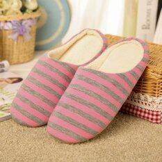 ซื้อ Moonar Women Men Home Warming Soft Slippers Winter Slippers Shoes Pink 37 38 Intl ใน จีน