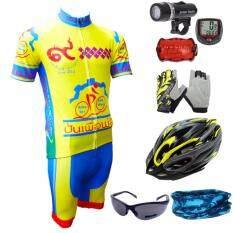ทบทวน ที่สุด Morning ชุดปั่นจักรยานเพื่อพ่อ สีเหลือง หมวกจักรยาน สีเหลือง แว่นตา สีดำ ถุงมือฟรีไซส์ สีเหลือง Sunding ไมค์จักรยาน Cycle Computer สีแดง ไฟชุดจักรยาน 5 Led รุ่น Wj 101 สีดำ ผ้าบัฟ คละสี