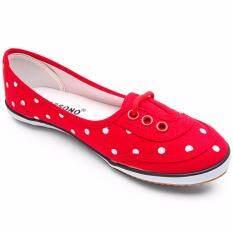 ราคา Mossono รองเท้าผ้าใบ รุ่น Ms025 สีแดง ใหม่