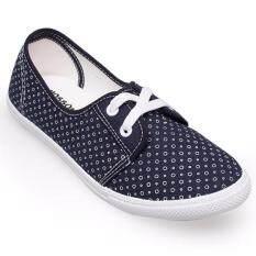 ราคา Mossono รองเท้าผ้าใบ รุ่น S055 กรม ใหม่