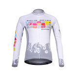 ซื้อ Mountainpeak เสื้อแขนยาวเสื้อผ้าขี่จักรยานจักรยานเสือภูเขาจักรยานขี่ ขี่ผิวสีขาว ใหม่ล่าสุด