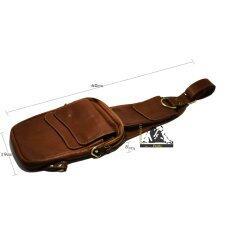 ขาย Msb กระเป๋าหนังแท้สะพายข้าง By Leathergear สีน้ำตาล กรุงเทพมหานคร