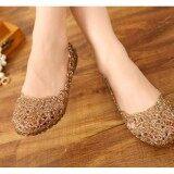 ราคา Multicolors Summer Women Ventilate Crystal Jelly Hollow Out Sandals Flat Shoes Intl Unbranded Generic