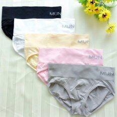 ราคา Munafie กางเกงในเก็บพุง ทรงบิกินี่ สีดำ สีขาว สีเนื้อ สีชมพู สีเทา 5 ตัว ใหม่ล่าสุด