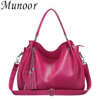 Munoor High Quality Genuine Cow Leather Women Tote Bags Shoulder Holder Bag - intl-
