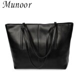 ราคา Munoor Italian 100 Genuine Cow Leather Women Top Handle Bags Shoulder Bags Crossbody Travel Holder Black Intl เป็นต้นฉบับ
