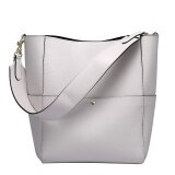 ขาย Munoor Italian 100 Genuine Cow Leather Women Tote Bags Fashionable Handbags Shoulder Bag For Travel White Intl ใหม่