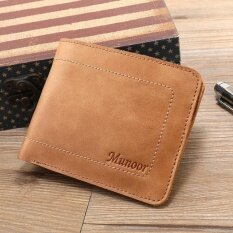 ซื้อ Munoor Rfid Blocking Italian Genuine Cow Leather Mens Bifold Thin Wallet Travel Purse Intl Munoor ถูก