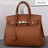 ซื้อ Munoor Women Top Handle Bags Italian 100 Genuine Cow Leather Shoulder Bags Crossbody Travel Holder Big Size Intl จีน