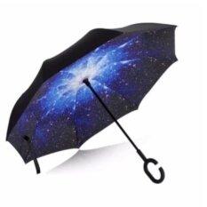 ราคา Mx Shop ร่มกลับด้าน 2 ชั้น มือจับตัว C กันแดดUv Reverse Umbrella Starry Sky ที่สุด