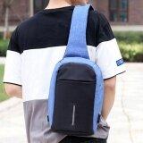 ส่วนลด สินค้า Naponie Rechargeable Usb Anti Thief Shoulder Bag Backpack One Shoulder Bag Bu Intl
