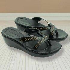 ราคา Naturalizer Border Stitch รองเท้าแตะถักขอบ สีดำ ใหม่