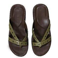 ขาย Naturalizer Border Stitch รองเท้าแตะถักขอบ สีเขียว ใหม่