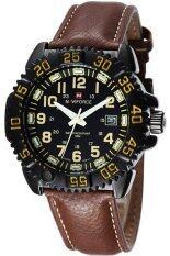 ขาย Naviforce นาฬิกาข้อมือผู้ชาย ขอบหยัก ตัวเลขครีม สายหนัง สีดำ น้ำตาล ออนไลน์ ใน กรุงเทพมหานคร