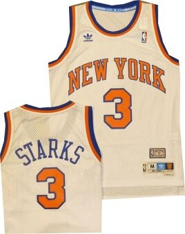 NBA Men's New York Knicks John Starks Hardwood Classics White Swingman Jersey - intl