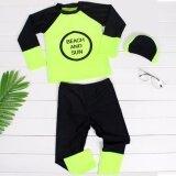 ราคา ชุดว่ายน้ำเด็กผู้ชาย แขนยาว ขายาว พร้อมหมวก สีเขียว รหัส Bwd2207 ใหม่