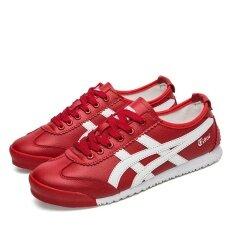 ส่วนลด Ndz Onitsuka Akan รองเท้า ▼ หนัง P38【High คุณภาพสูง จัดส่งได้อย่างรวดเร็ว】 สีแดง Ndz Thailand