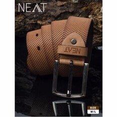 ราคา Neat เข็มขัดหนังสำหรับสุภาพบุรุษ สีน้ำตาล ราคาถูกที่สุด