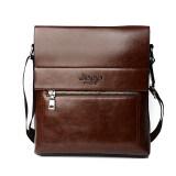 ราคา New 2016 Jeep Handbag Men Leather Single Shoulder Bag Business Vertical Leisure Briefcase Dark Brown Intl Jeep ออนไลน์
