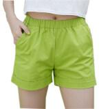 ซื้อ ใหม่ฤดูร้อน 2017 ลูกอมสีกางเกงขาสั้นผู้หญิงสไตล์ลำลองผู้หญิงกางเกงขาสั้นขายร้อนบวกขนาดฝ้ายกางเกงขาสั้นหญิง สีเขียว นานาชาติ ใหม่ล่าสุด