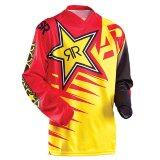 New Arrival Rock Star Moto Jersey Mx Mtb Off Road Mountain Bike Dh Bicycle Jersey Dh Bmx Motocross Jersey 3 Styles Gold Intl เป็นต้นฉบับ