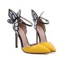 ขาย ซื้อ New Beautiful Womens S*xy High Heels Butterfly Summer Sandals Yellow จีน