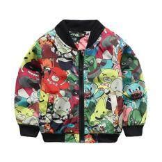 ราคา ราคาถูกที่สุด เสื้อแจ็คเก็ตเด็ก เสื้อเบสบอล เสื้อคลุมเด็ก เสื้อแฟชั่นเด็ก New Boys Fashion Jacket Coats Children Baseball Cartoon Zipper Clothing
