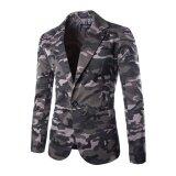 ราคา New Camouflage Colors Famous Brand Casual Suit Men Business Blazer Jacket Men S Fashion Single Button Blazers Plus Intl ใหม่ ถูก