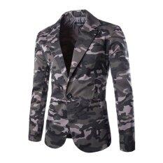ขาย New Camouflage Colors Famous Brand Casual Suit Men Business Blazer Jacket Men S Fashion Single Button Blazers Plus Intl Unbranded Generic ถูก