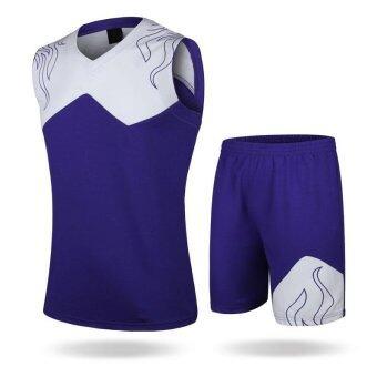 New Design Children Boy's Training Sports Basketball Jersey Shirts with Shorts Set-Main Purple+White(2072)(Int:S) - intl