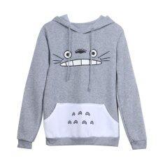 ซื้อ New Fashion Cartoon Totoro Hoodie Unisex Pullover Sweatshirt ออนไลน์ ถูก