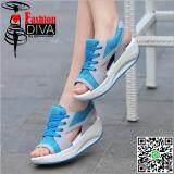 ซื้อ New Fashion Diva รองเท้าลำลองรัดส้นกึ่งสปอร์ตพื้นสูง 2 นิ้ว สไตล์เกาหลี Diva