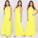 ราคา New Fashion S*Xy Women Summer Boho Chiffon Long Maxi Evening Party Beach Dress Yellow Intl ใหม่ ถูก