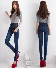 ขาย กางเกงยีนส์เอวสูงกางเกงยีนส์แฟชั่นพลัสขนาดผู้หญิงกางเกงยีนส์กางเกงยีนส์ยาวกางเกงดินสอสีน้ำเงิน นานาชาติ ออนไลน์