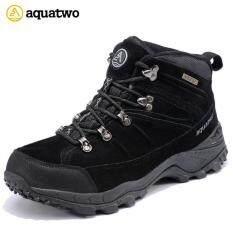 ขาย New รองเท้า Hiking Trail รองเท้าเดินป่า ปีนเขา ใส่ลุยหิมะได้ กันน้ำ Aquatwo รุ่น 943 สีดำ Aquatwo ใน กรุงเทพมหานคร
