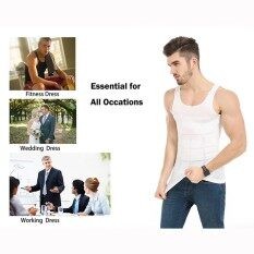 New Invisible Body Shaper Men Bodysuit Slimming Undershirts Elastic Sculpting Vest Abdomen Slim Tummy Waist Magic Compression Muscle Girdle Tightly Fitted Undershirt Hot Sales(int:s)  .