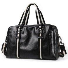 ราคา ใหม่ผู้ชายกระเป๋าถือหนังวัวแท้กระเป๋ากลางแจ้งกระเป๋าถือกระเป๋าสะพายขนาดใหญ่เดินทางถุงกีฬายิมกระเป๋า สีดำ นานาชาติ Unbranded Generic ใหม่
