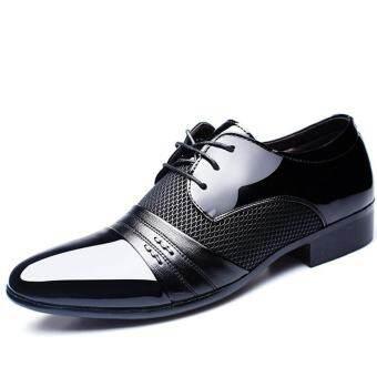 ชุดเดรสสำหรับผู้ชายแบบใหม่ Oxfords อย่างเป็นทางการรองเท้าหนังธุรกิจรองเท้าลำลองชุดลำลองสีดำ - สนามบินนานาชาติ