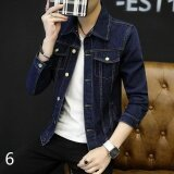 ราคา New Student Casual Cowboy Jacket Men Korean Version Of The Trend Of Slim Handsome Spring And Autumn Thin Jacket 6 Intl