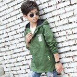 ขาย New Style Spring Korean Children Jacket Windbreaker Boy Casual Clothes Green Intl ออนไลน์