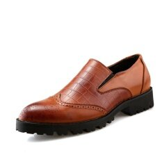 โปรโมชั่น ฤดูร้อนใหม่ผู้ชายแต่งตัวรองเท้าแต่งงานรองเท้าธุรกิจเหล้าองุ่นนักออกแบบรองเท้าอย่างเป็นทางการ นานาชาติ จีน