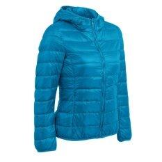 ซื้อ New Winter Autumn Women Duck Down Hooded Jacket Zipper Long Sleeves Slim Light Down Coat Intl Unbranded Generic