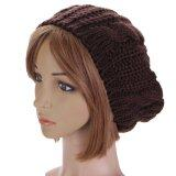 ซื้อ New Women Lady Winter Warm Knitted Crochet Hat Slouch Baggy Beret Beanie Cap Coffee Unbranded Generic เป็นต้นฉบับ