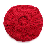 ขาย New Women Lady Winter Warm Knitted Crochet Hat Slouch Baggy Beret Beanie Cap Red ใหม่