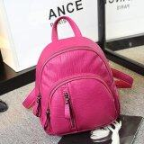 New Women S Washable Leather Backpack Korean Fashion Mini Package Street Fashion Leisure Travel Bag Rose Small Intl เป็นต้นฉบับ