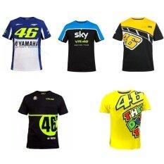 ซื้อ Newest Moto Gp Vr46 Rossi Motorcycle Fashion Short Sleeve T Shirt Sports And Leisure Sky Blue Black Size M Intl ใหม่