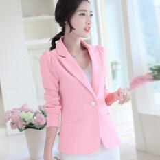 ซื้อ เสื้อสูทเล็กทรงเข้ารูปของผู้หญิงLeikenisi สีชมพูอ่อน สีชมพูอ่อน ถูก ฮ่องกง